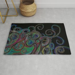 Swirl About: The Sea At Night Rug
