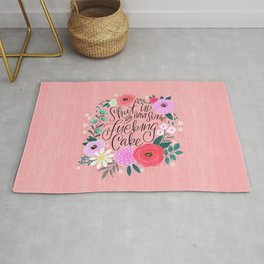 Pretty Sweary 2.0: Shut up and have some fucking cake Rug
