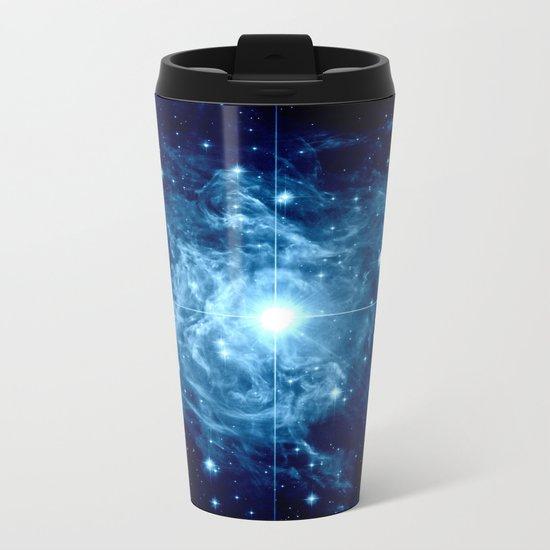 Turquoise Galaxy Star Metal Travel Mug