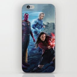 Scarlet Witch, Quicksilver, Vision, Ulton iPhone Skin