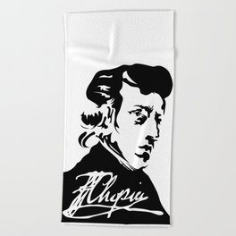 Frédéric Chopin (1810 – 1849) (II) Beach Towel
