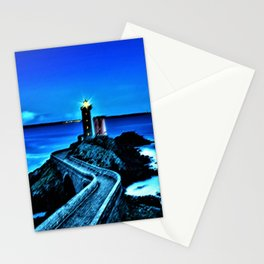 Plouzane Lighthouse, France Landscape by Jeanpaul Ferro Stationery Cards