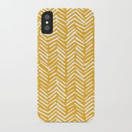 Boho Mudcloth Pattern, Summer Yellow iPhone Case