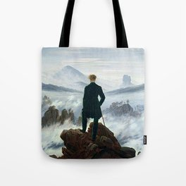 Wanderer above the Sea of Fog Painting by Caspar David Friedrich Tote Bag