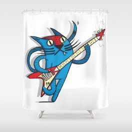 Cat's love to rock Shower Curtain