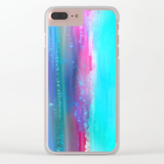 Ice Curtain 5 Clear iPhone Case