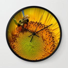 Bee A Sunflower Wall Clock