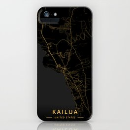 Kailua, United States - Gold iPhone Case