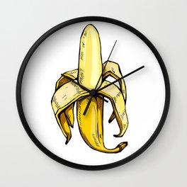 yellow graphic banana Wall Clock