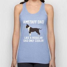 Funny Amstaff Dad Unisex Tank Top
