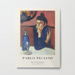Vintage poster-Pablo Picasso-Absinthe drinker. Metal Print