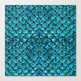 Mermaid Scales Design Canvas Print