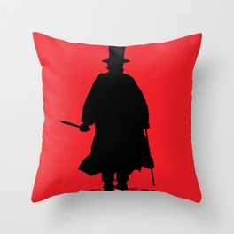 Jack The Ripper Throw Pillow
