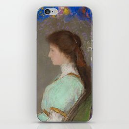 "Odilon Redon ""Portrait of Violett Heymann"" iPhone Skin"
