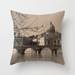 Rome Italy Neck Gator St. Peters Basilica Rome Throw Pillow