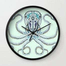 Sugar Skull Octopus Wall Clock