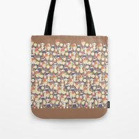 willy wonka Tote Bags featuring Willy Wonka Pattern by Ricky Kwong