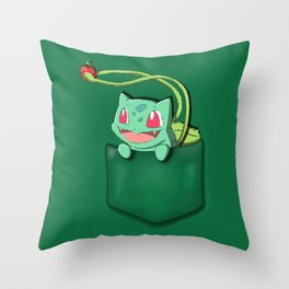 Bulba in the Poket Throw Pillow