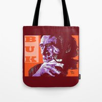 popart Tote Bags featuring Charles Bukowski - PopART by ARTito