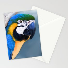 Parrot with a heavy load Stationery Cards