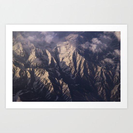 view down - Pakistan  Art Print