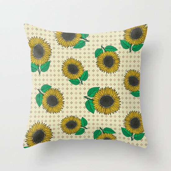 Sunflower Throw Pillow by Vickn Society6