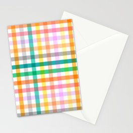 Cottagecore Colorful Gingham Picnic Stationery Cards