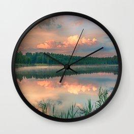 Misty Sunrise Wall Clock
