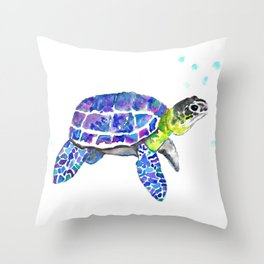 Tropical Turtle Throw Pillow