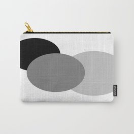 Gray White Black : Mod Circles Carry-All Pouch