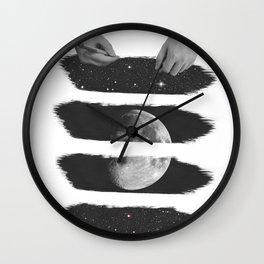 Draw me the moon Wall Clock