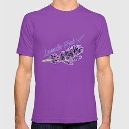 Lavender Fresh Pattern (powder pink) T-shirt