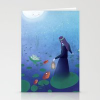 fireflies Stationery Cards featuring Fireflies by germaine caillou