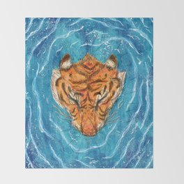 Tigress River Throw Blanket