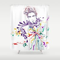 chill Shower Curtains featuring Chill by Sarah Soh
