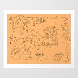 TCoE - Trindavin Map - 'parchment' - Art Print