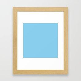 Baby Blue Solid Color Framed Art Print