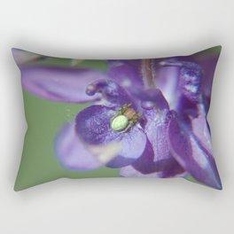 Fluid Nature - Green Jewel In Purple Flower Rectangular Pillow