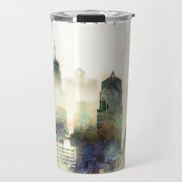 Philadelphia Pennsylvania Watercolor Skyline Travel Mug