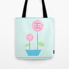 Flower E Tote Bag