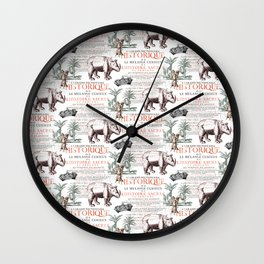 Royal Rhinoceros Wall Clock