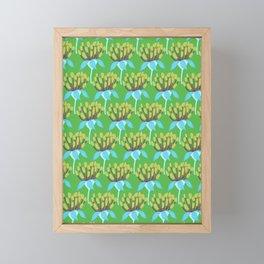 Blue Flowers in the Grass Framed Mini Art Print
