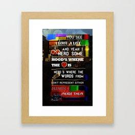 Nerd Some Framed Art Print