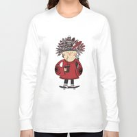 native american Long Sleeve T-shirts featuring Native American Skater Boy by Farnell