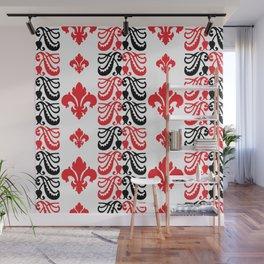 Fluer de Lis Custom Red Wall Mural