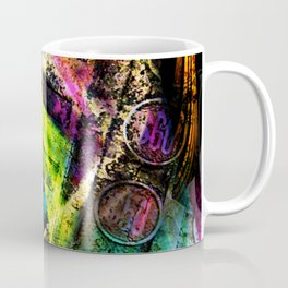 Old  cash register in colors Coffee Mug