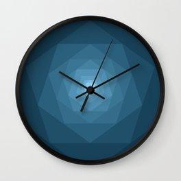 Blue Tunnel Wall Clock
