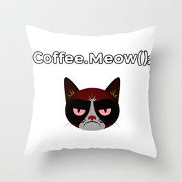 coffee.meow() coffee addict developer Throw Pillow