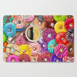 Donuts & Coffee Cutting Board