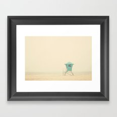 the sound of outer ocean on a beach ... Framed Art Print